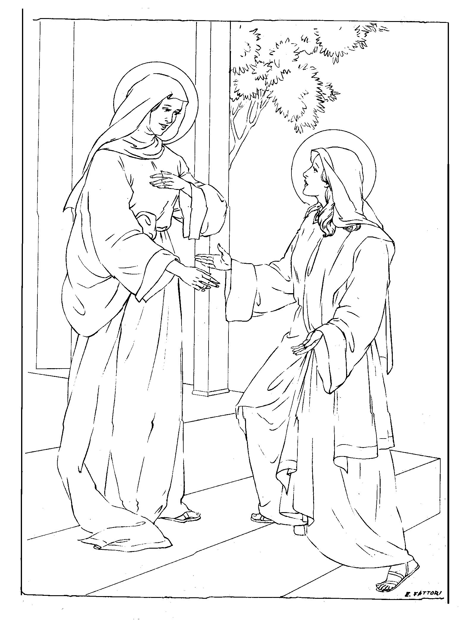 37 Best Mary Coloring Pages images in 2020 | Coloring pages ... | 2103x1555