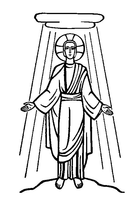 Transfiguration of Jesus Coloring Pages