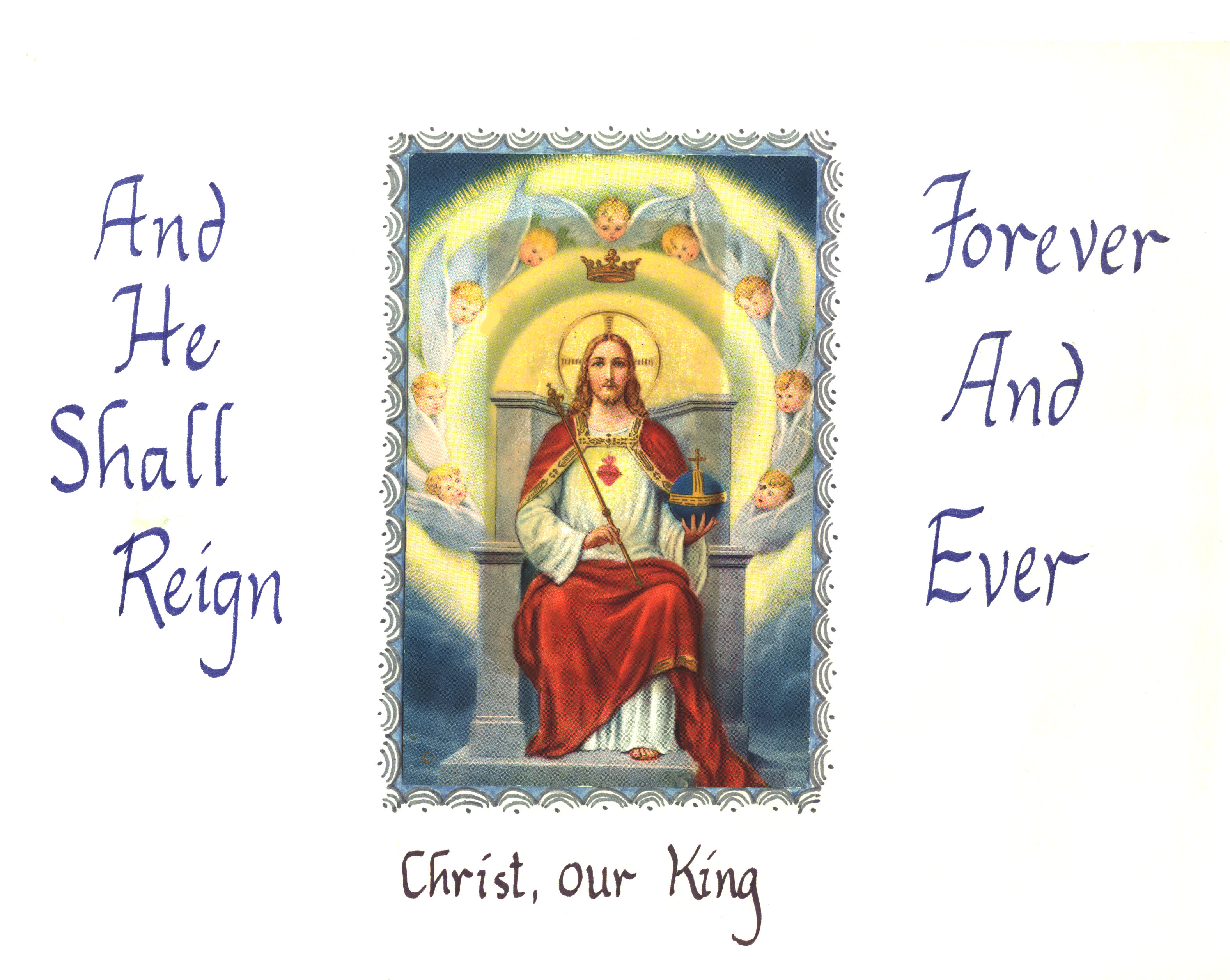 our lord jesus christ king of The story of the crucifixion, proclaimed on the feast of christ the king, reminds us  that the reign of jesus isn't a reign of glory and power, but of service, love,.