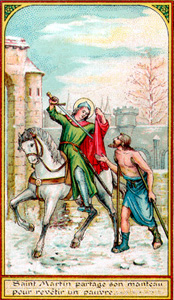 St. Martin of Tours Giving His Cloak