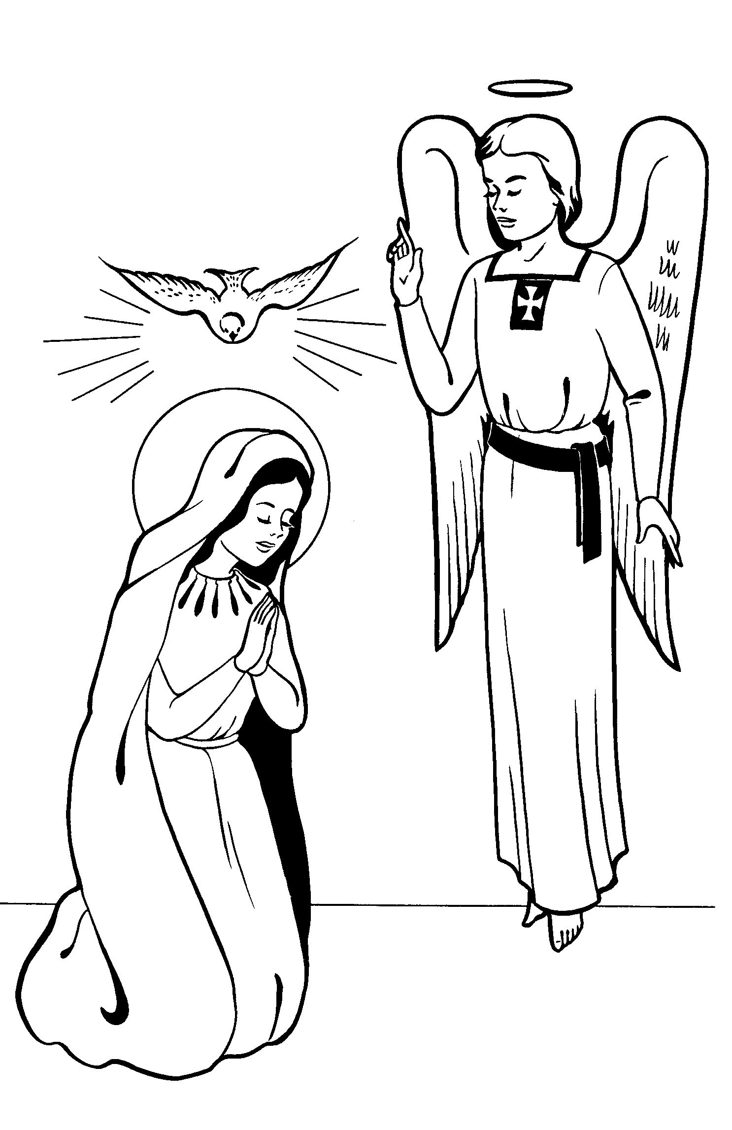 fly angel coloring pages | Cheerios Do Fly !!!: Happy Feast of the Annunciation!