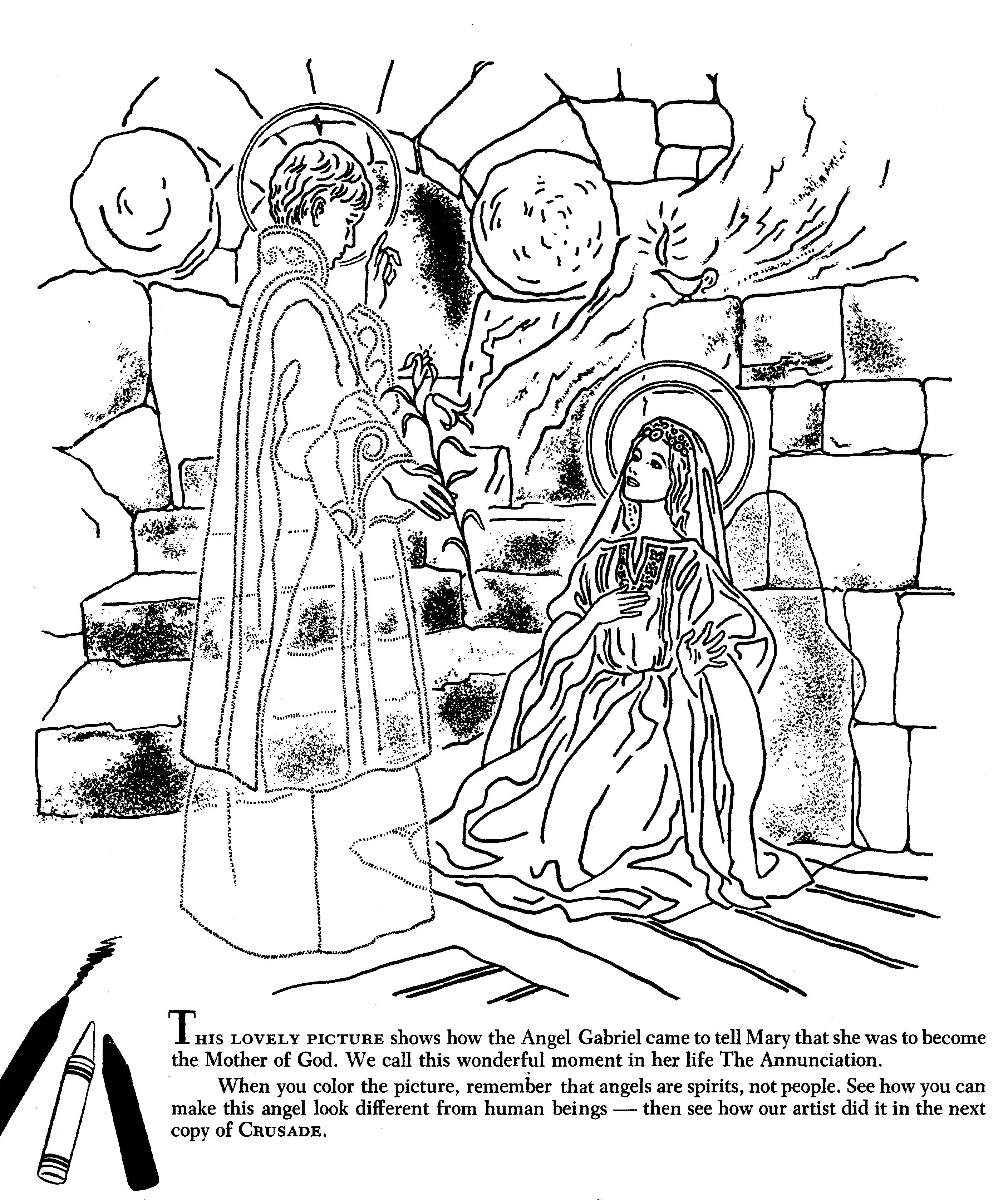 Angel Gabriel Tells Mary She Is To Be The Mother Of God